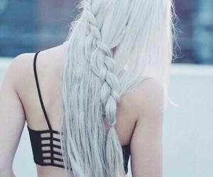 braids, hairstyle, and grayhair image