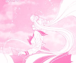 manga, pink, and sailor moon image