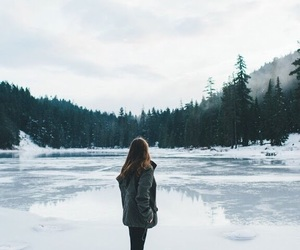 girl, winter, and nature image