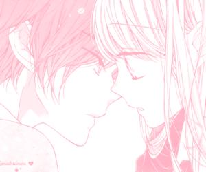 anime, boy, and pink image