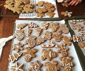 christmas, home, and christmas cookies image