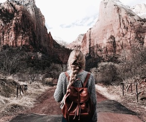 travel, girl, and nature image