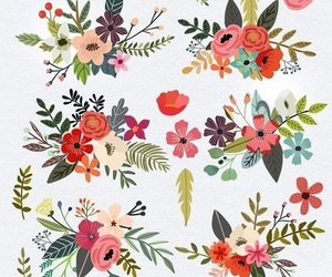 background, design, and flowers image