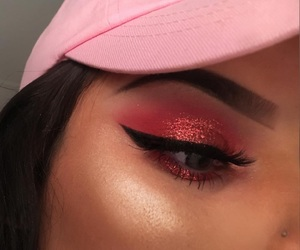 baby pink, highlight, and brunette image