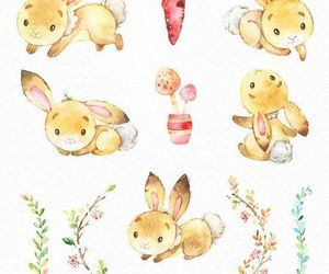 bunny, design, and draw image