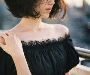 black hair, model, and yun seon young image