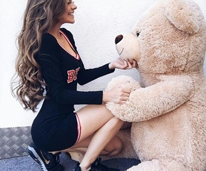 fashion, teddy bear, and hair image