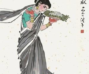 china, chinese, and sari image