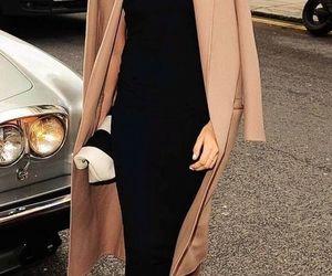 coat, girl, and heels image