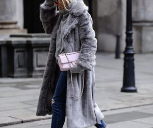 blonde, coat, and converse image