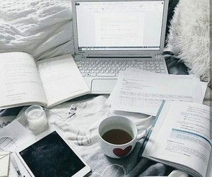 bed and studying image