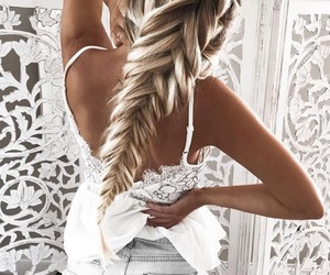accessories, beauty, and braided hair image