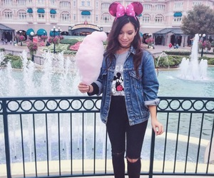 disneyland, pink, and skirt image