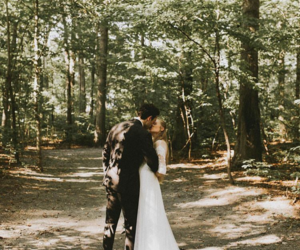 couple, forest, and goals image
