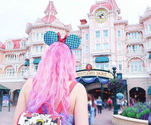 disneyland, disneyland paris, and pink image