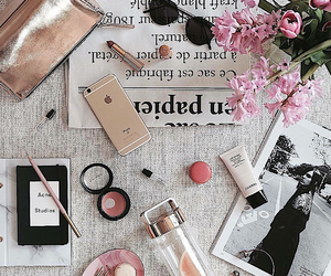 apple, table, and makeup image