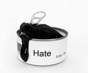 hate and black image