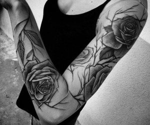 ink, tattoo, and tatt image