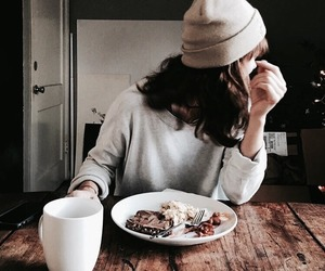 food, girl, and hat image