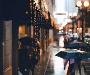 autumn, rain, and city image