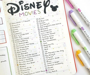 disney, movies, and planner image