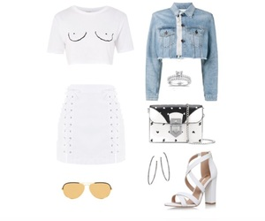 outfits, Polyvore, and white image
