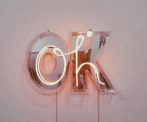 ok, neon, and light image