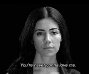 love, marina and the diamonds, and black and white image