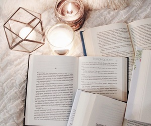books, candle, and tumblr image