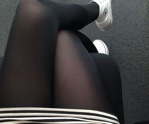 black stockings, girl, and legging image
