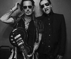 johnny depp and Marilyn Manson image