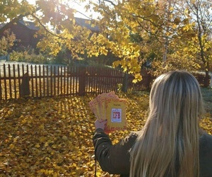 autumn, beutiful, and blondie image
