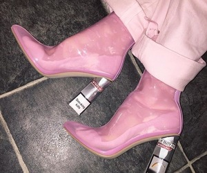 pink, shoes, and smoking image