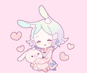 bunny, pastel, and cgl image