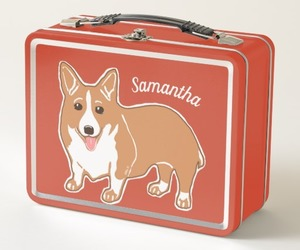 corgi, lunch box, and lunchbox image