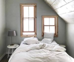 bedroom, house, and Blanc image