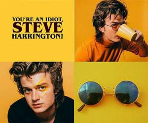 steve harrington, wallpaper, and yellow image