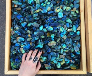 crystal and labradorite image