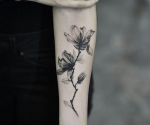 flowers, ink, and linework image