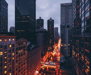 buildings, city, and lights image