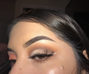 brown eyes, makeup, and motivation image
