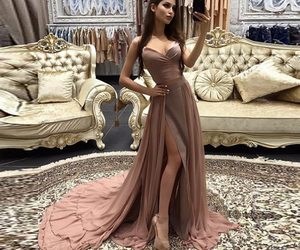long dress, prom dress, and two piece image