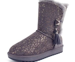 leather boots, tassel, and snow boots image