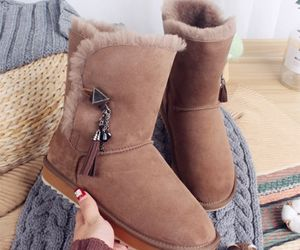 ankle boots, leather boots, and tassel image