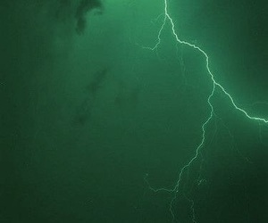 green, lightning, and nature image