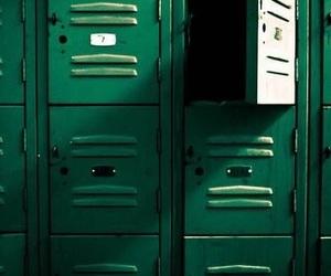 green, aesthetic, and locker image