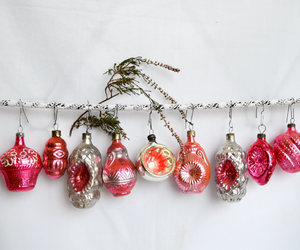 etsy, christmas tree decor, and vintage pink decor image