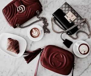 fashion, coffee, and red image