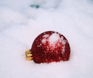 christmas, snow, and red image