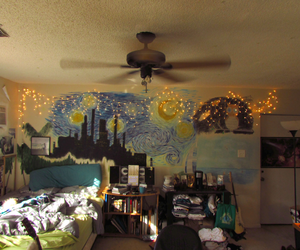 room, art, and bedroom image